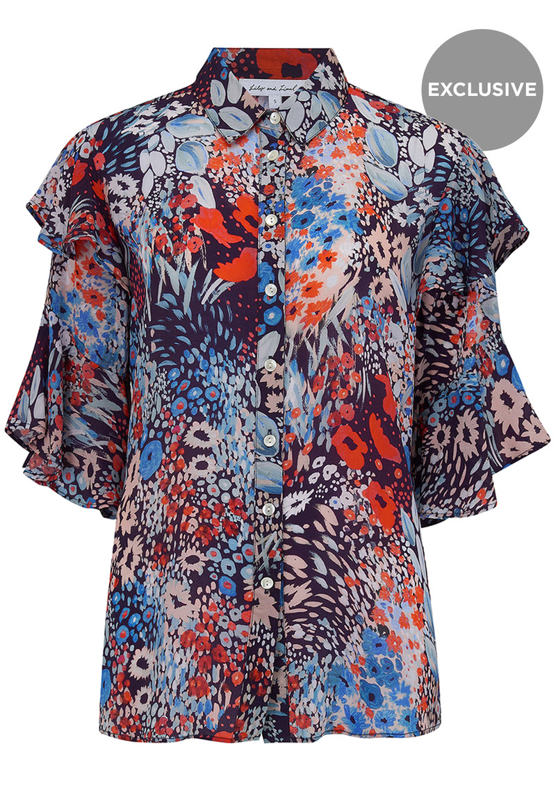 Lily and Lionel Exclusive Frankie Shirt - Dusky Floral main image