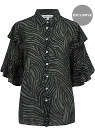 Lily and Lionel Exclusive Frankie Shirt - Zebra Khaki
