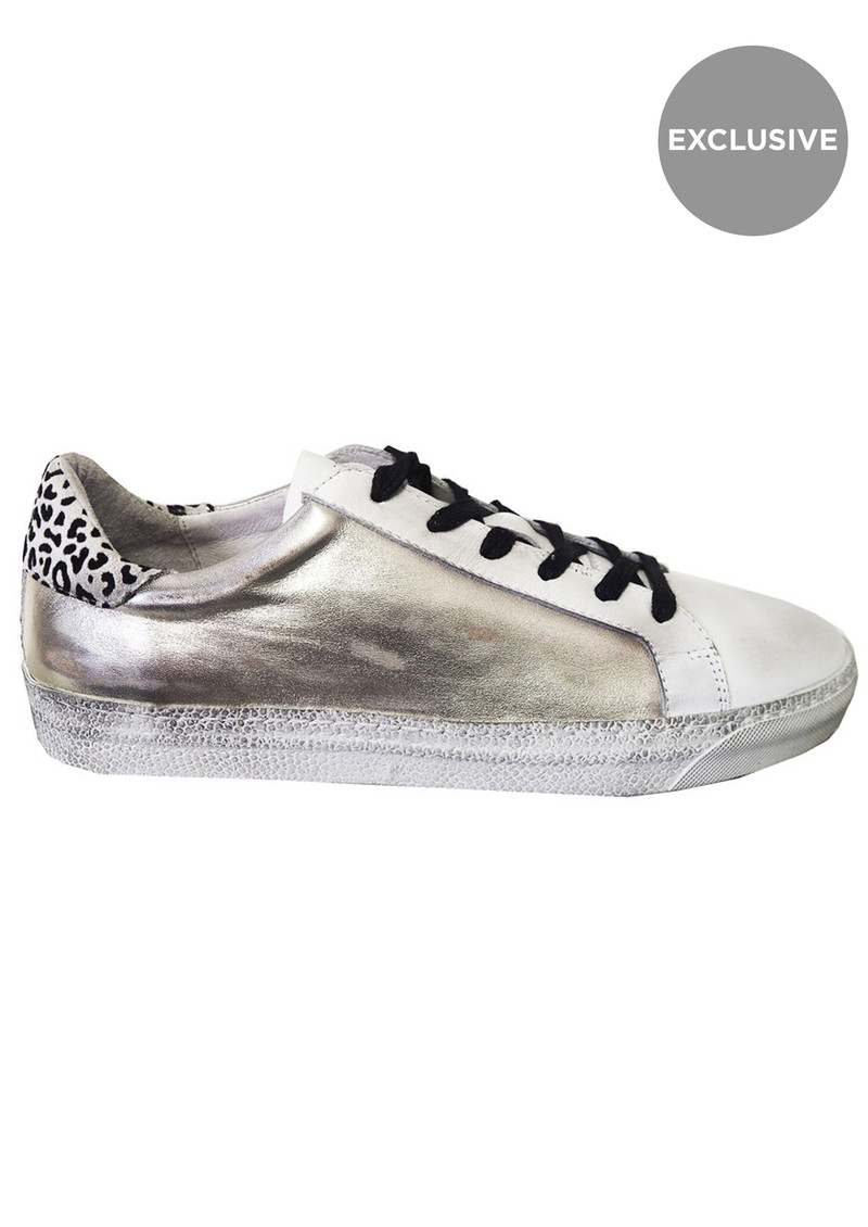 AIR & GRACE Exclusive Cru Trainer - Silver Metallic main image