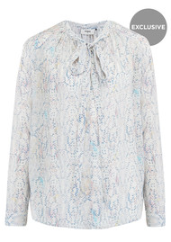 Pyrus Exclusive Annie Long Sleeve Blouse - Python Pastel