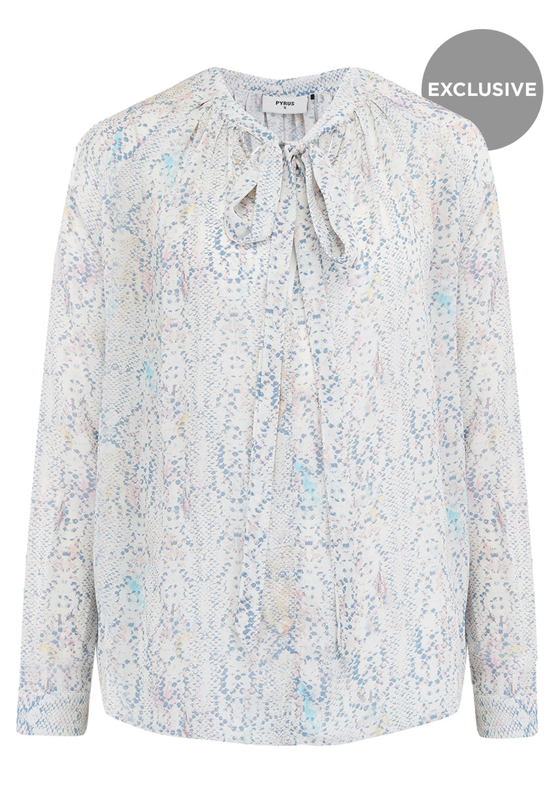 Pyrus Exclusive Annie Long Sleeve Blouse - Python Pastel main image