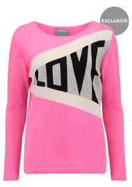 ORWELL + AUSTEN Exclusive Love Jumper - Pink & Grey