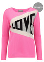 Exclusive Love Jumper - Pink & Grey additional image