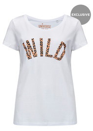 UNIVERSE OF US Wild T-Shirt - White & Leopard