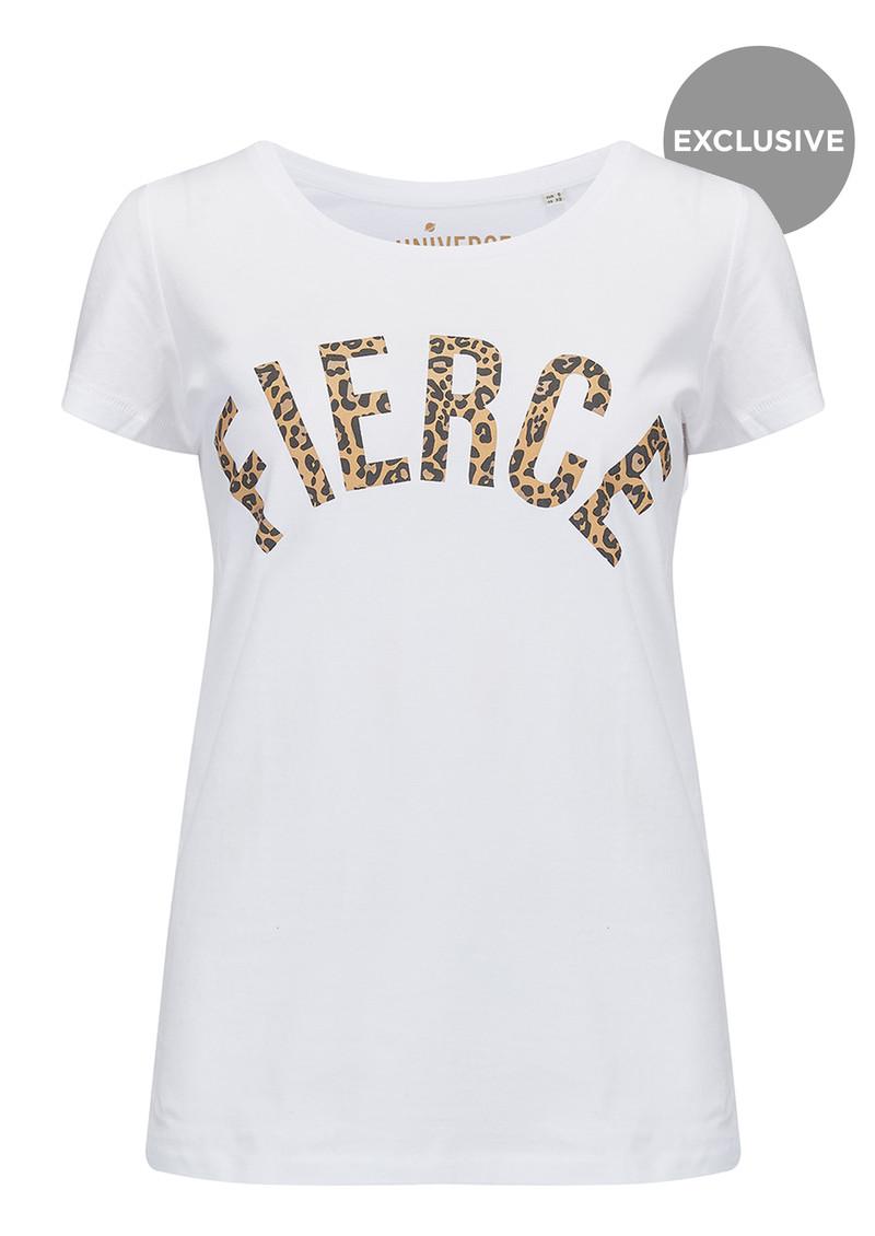 UNIVERSE OF US Fierce T-Shirt - White & Leopard main image