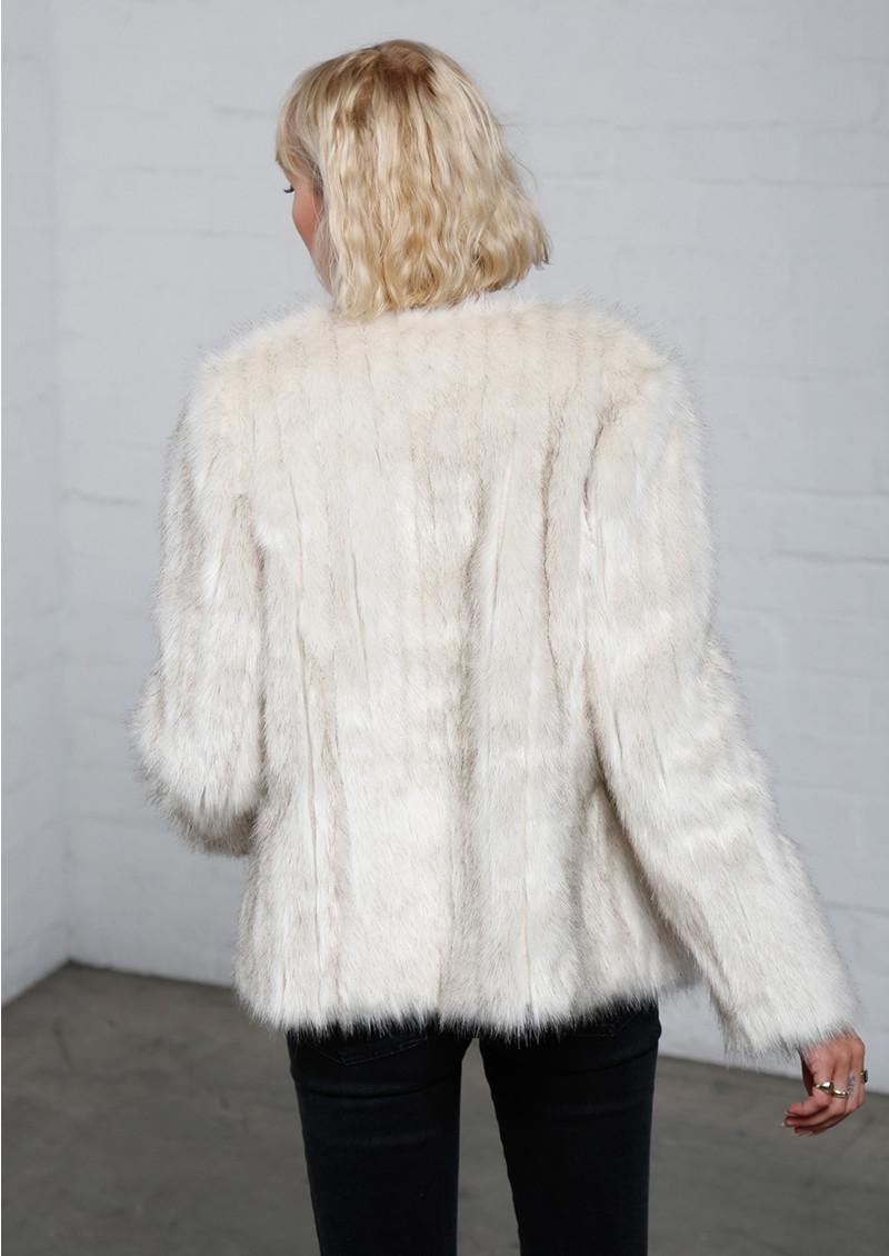 MAYLA Faux Fur Short Jacket - White main image