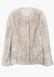 MAYLA Faux Fur Short Jacket - White