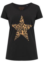 UNIVERSE OF US Star Leopard T-Shirt - Black