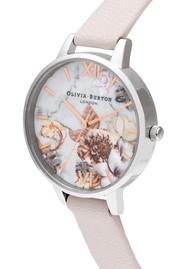 Olivia Burton Marble Florals Watch - Pink, Rose Gold & Silver