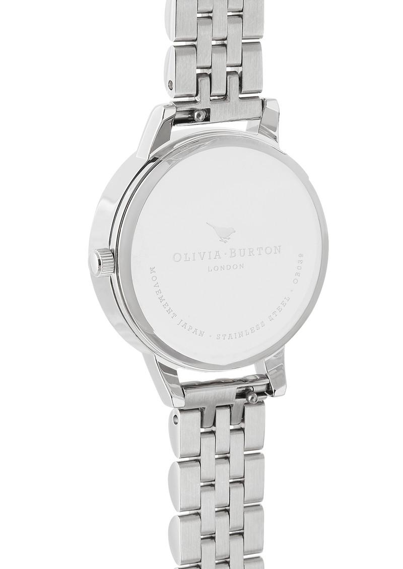 Olivia Burton Semi Precious Midi Dial Bracelet Watch - Rose Quartz & Silver main image