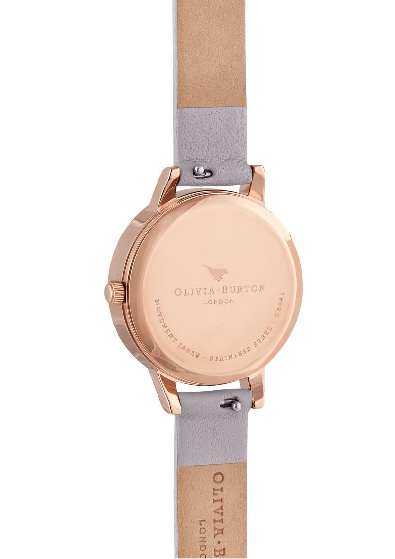 Olivia Burton Semi Precious Midi Dial Watch - Amethyst, Lilac & Rose Gold  main image