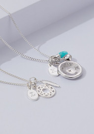 KIRSTIN ASH Constellation Circle Charm - Silver
