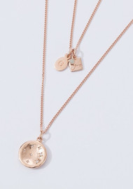KIRSTIN ASH Constellation Circle Charm - Rose Gold