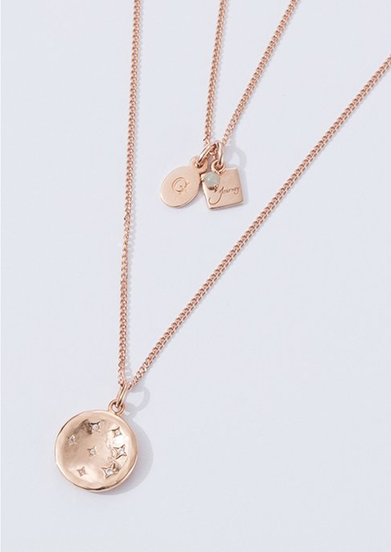KIRSTIN ASH Constellation Circle Charm - Rose Gold  main image