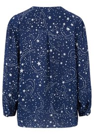 Mercy Delta Stanford Silk Blouse - Galaxy True Blue