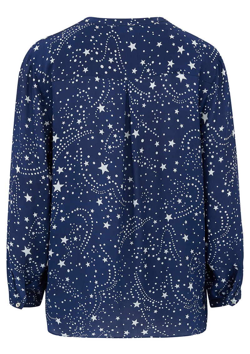 Mercy Delta Stanford Silk Blouse - Galaxy True Blue main image
