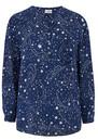 Mercy Delta Stanford Silk Blouse - Galaxy True Blue