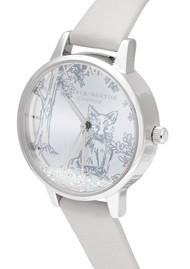 Olivia Burton Snow Globe Arctic Fox Midi Dial Watch - Blush & Silver