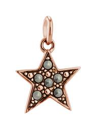 KIRSTIN ASH Bespoke Star Marcasite Charm - Rose Gold