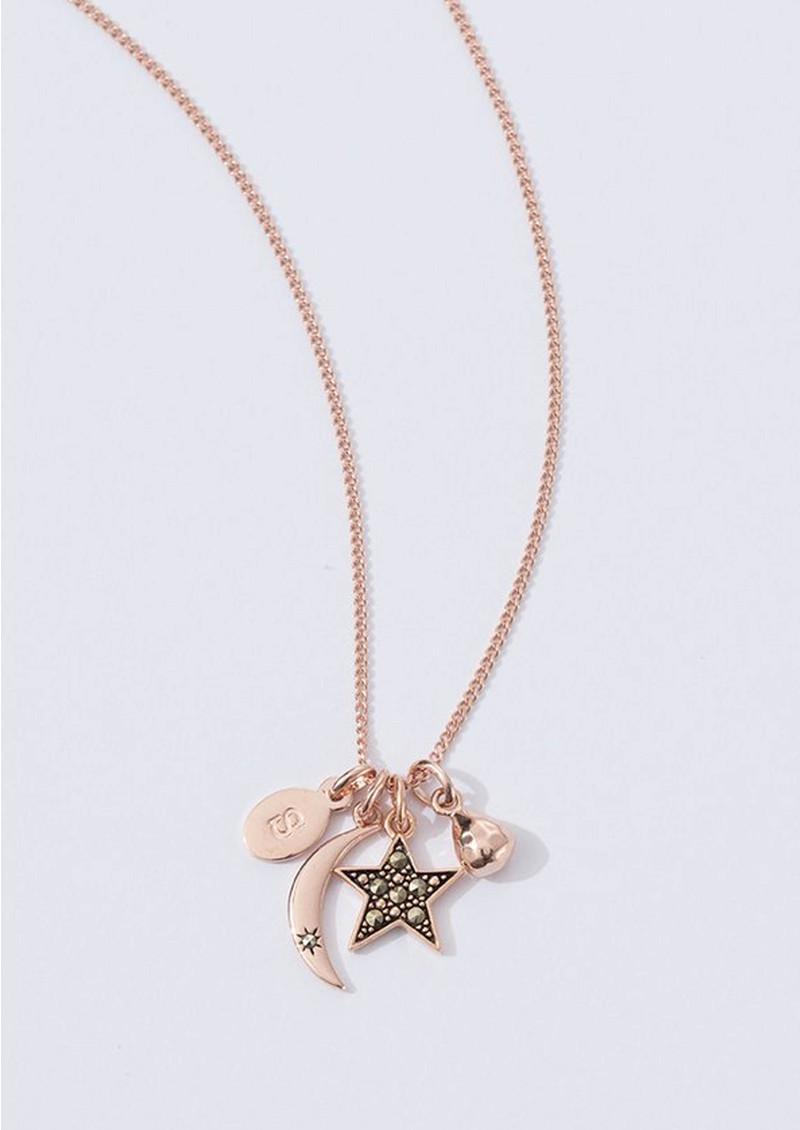 KIRSTIN ASH Bespoke Star Marcasite Charm - Rose Gold main image