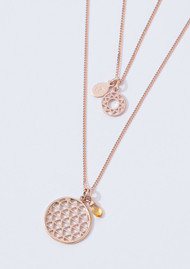 KIRSTIN ASH Bespoke Filigree Circle Charm - Rose Gold
