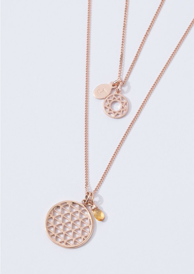 KIRSTIN ASH Bespoke Filigree Circle Charm - Rose Gold main image