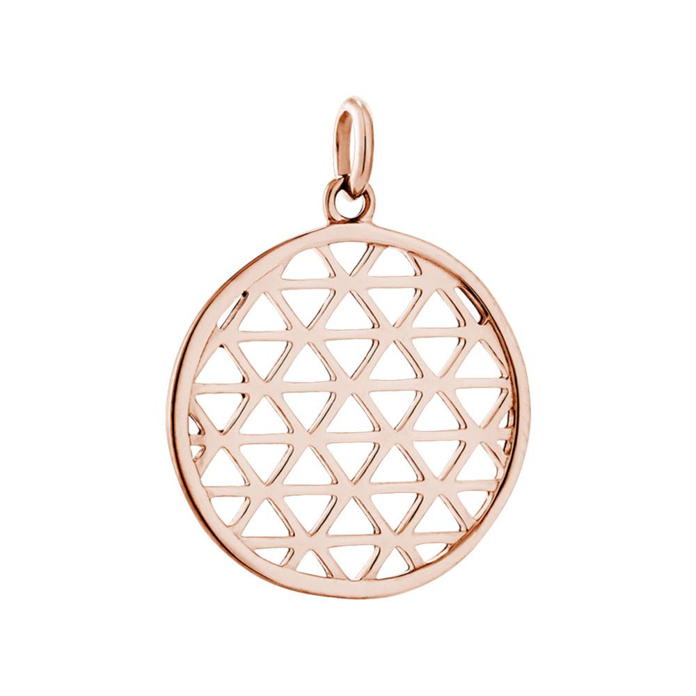 Bespoke Filigree Circle Charm - Rose Gold