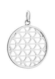 KIRSTIN ASH Bespoke Filigree Circle Charm - Silver