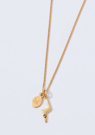 KIRSTIN ASH Bespoke Lightning Bolt Charm - Rose Gold