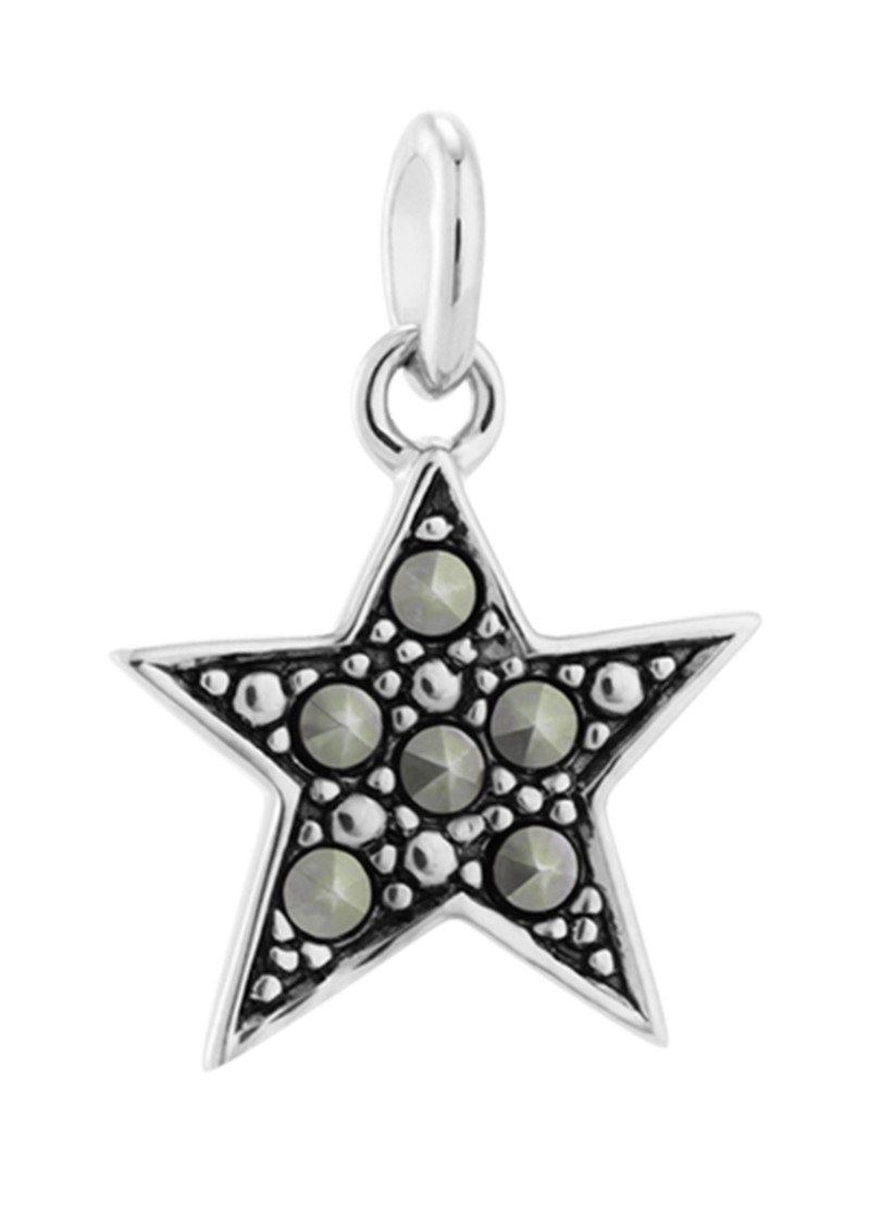 Bespoke Star Marcasite Charm - Silver main image