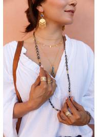 ANNA BECK Sama Multi Bar Charm & Satellite Chain Double Necklace - Silver