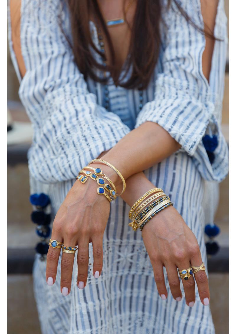 ANNA BECK Sama Hematite Beaded Bracelet - Silver main image