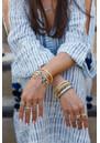 ANNA BECK Sama Hematite Beaded Bracelet - Silver