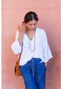 ANNA BECK Sama Hematite & Sapphire Multi Station Drop Earrings - Silver