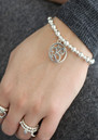Mini Small Ball Om Disc Bracelet - Silver additional image