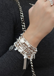 ChloBo Compassion Set of 2 Bracelets - Silver
