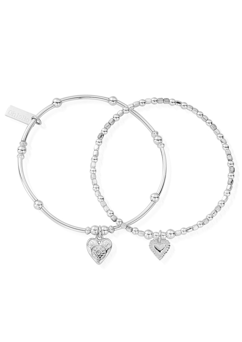 ChloBo Compassion Set of 2 Bracelets - Silver main image
