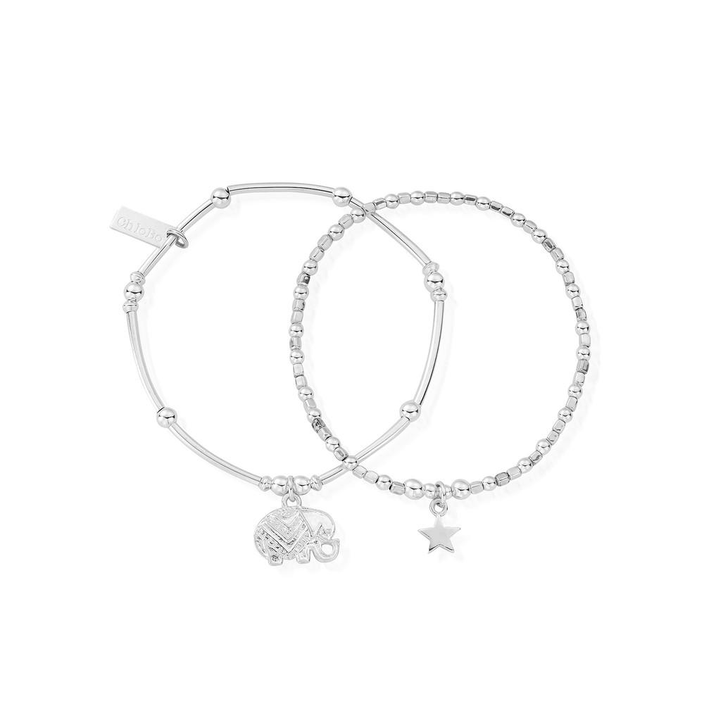 Lucky Set of 2 Bracelets - Silver