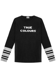 True Colours Jumper - Black, White & Grey