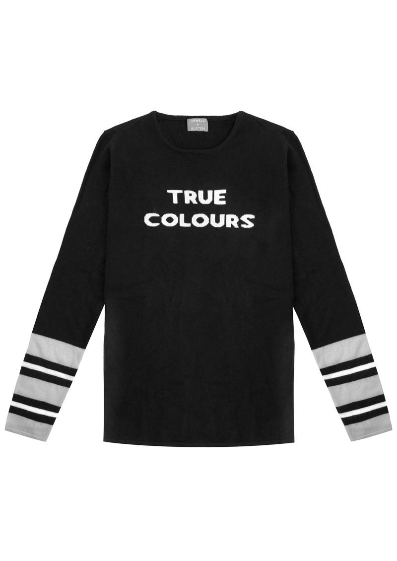 ORWELL + AUSTEN True Colours Jumper - Black, White & Grey main image