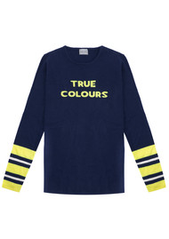 True Colours Jumper - Navy & Neon Yellow