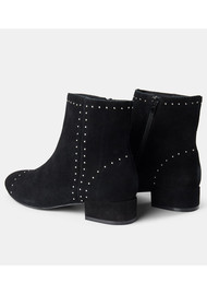 SHOE THE BEAR Rose Studs Suede Ankle Boot - Black