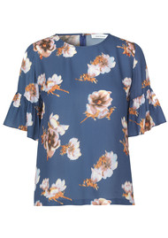 SAMSOE & SAMSOE Serena Sleeve AOP Top - Blue Floral
