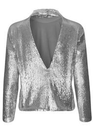 SAMSOE & SAMSOE Theta TN Sequin Top - Silver