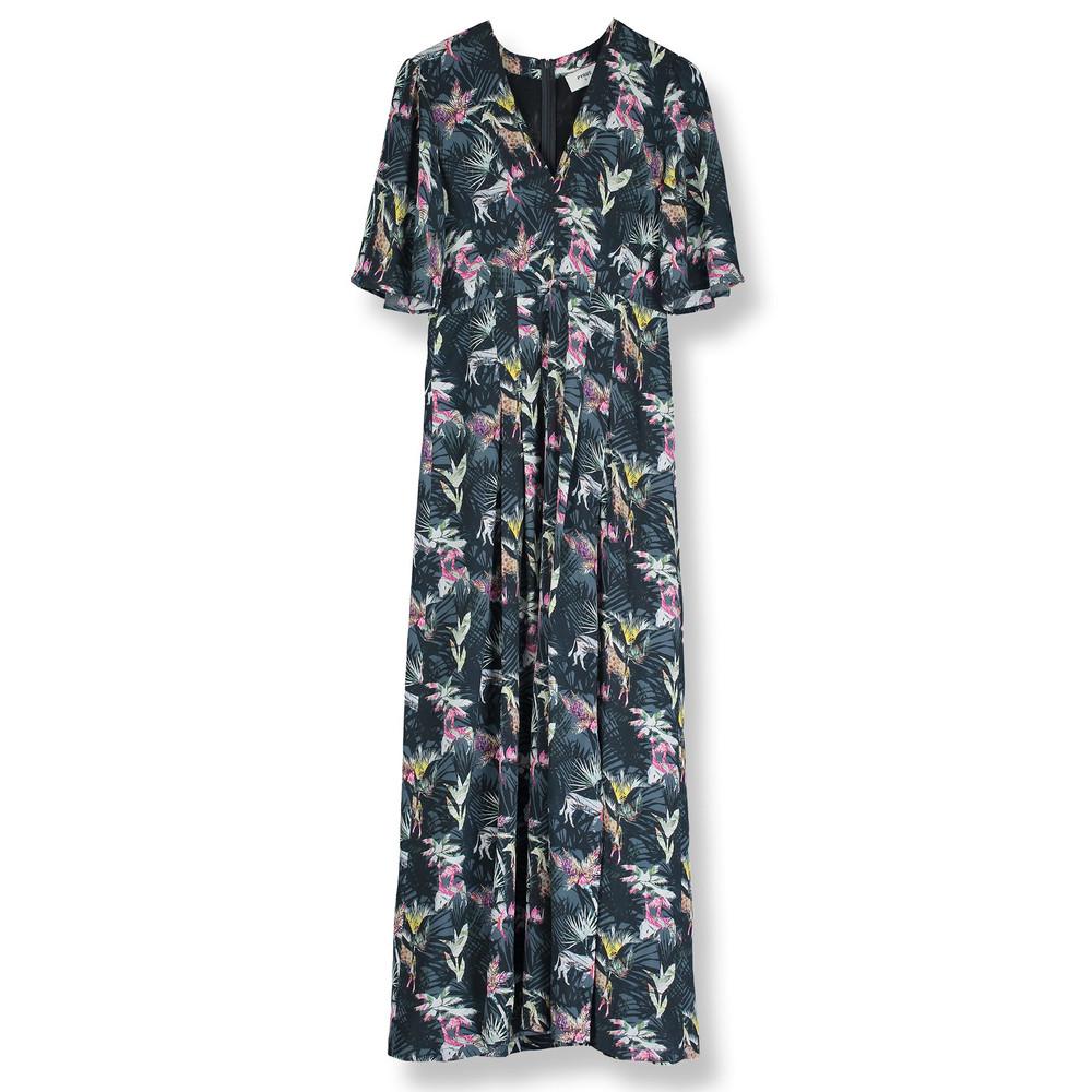 Dahliah Maxi Silk Dress - Masai Print