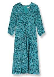 Pyrus Ingrid Midi Silk Dress - Animal Print
