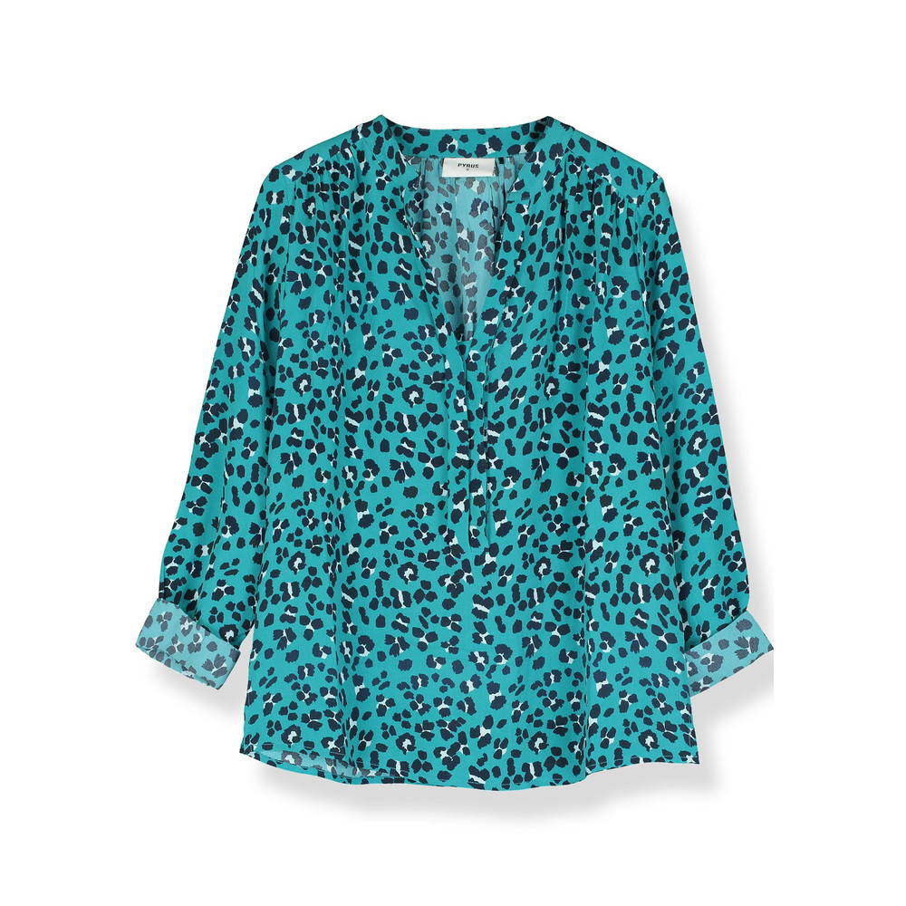 Paola Silk Blouse - Animal Print