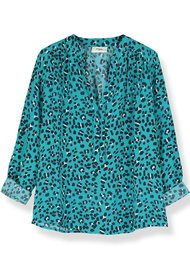 Pyrus Paola Silk Blouse - Animal Print