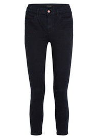 J Brand Alana High Rise Cropped Super Skinny Jeans - Bluebird