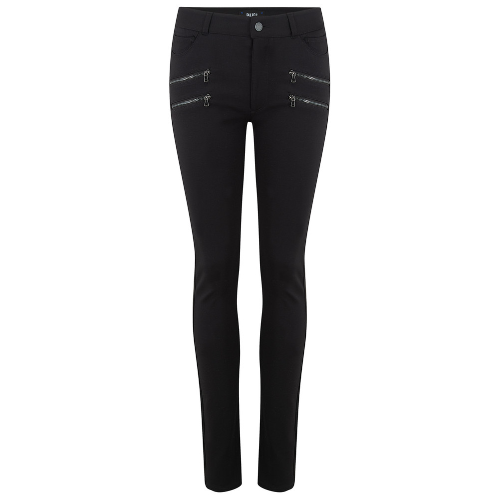 Edgemont High Rise Ponte Trousers - Black